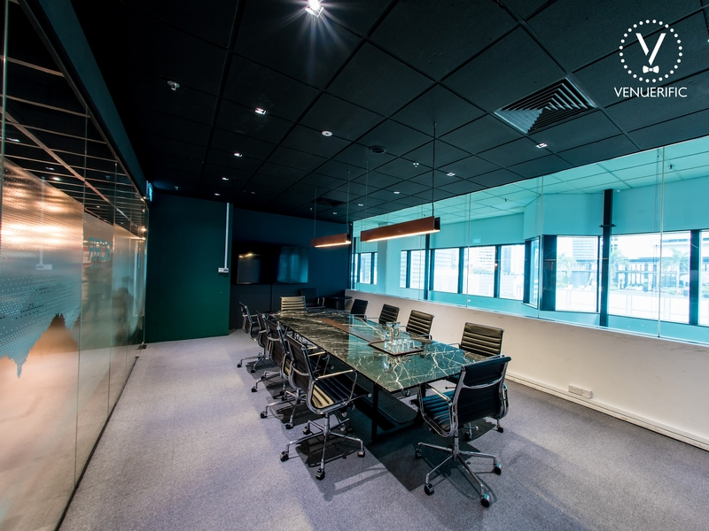 fully equipped conference room with professional setting for business meetings