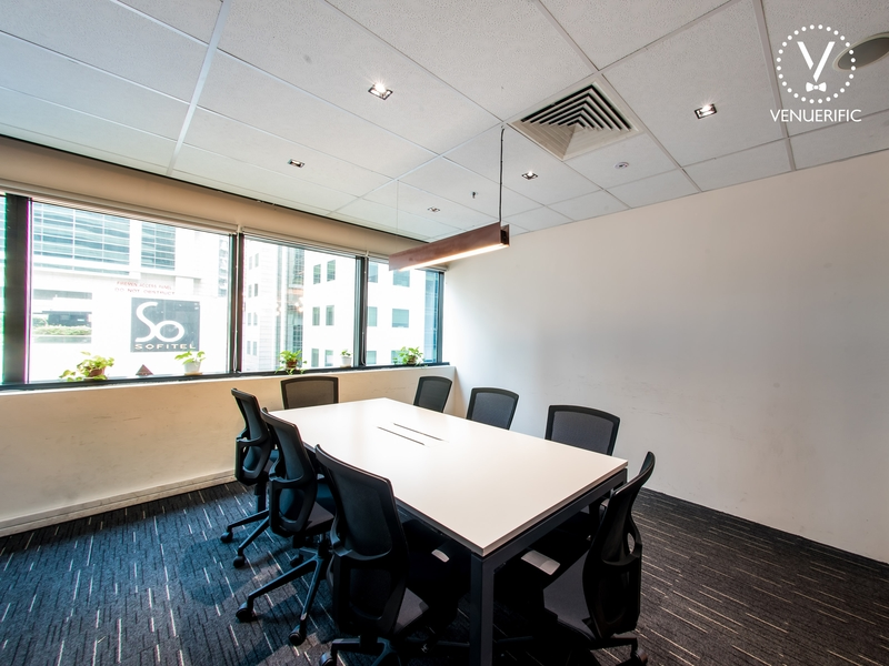 professional setting of meeting room with maximum 8 persons