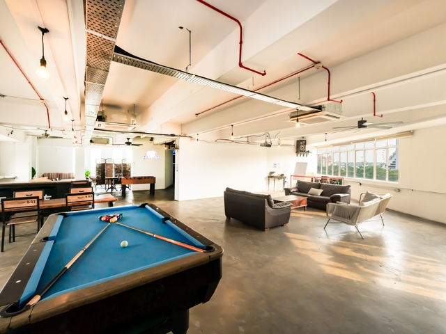 event space for 120 capacity with billiard table