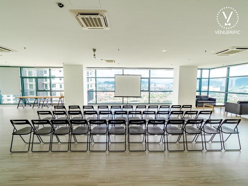 company team training event setup
