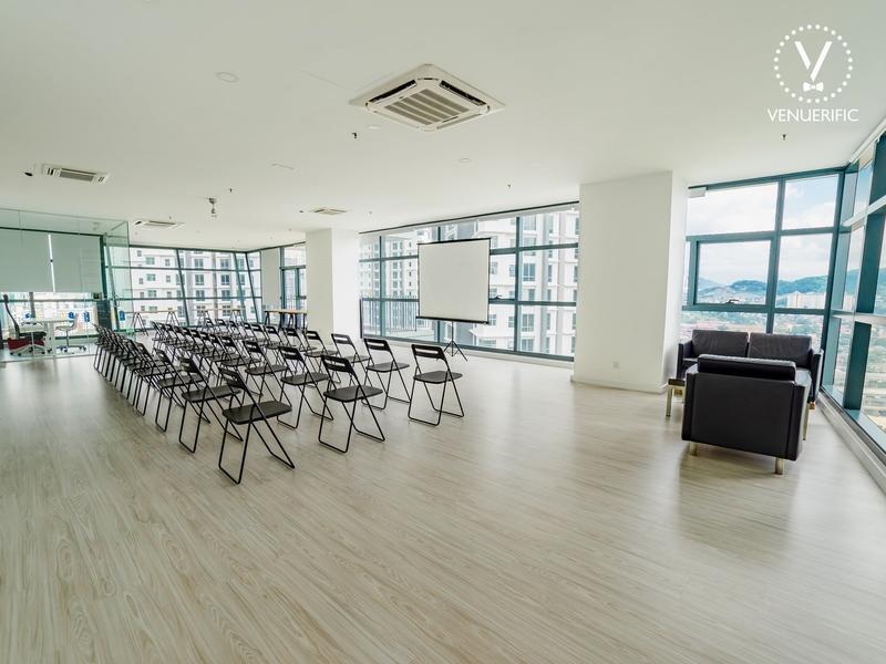 corporate seminar venue with theatre style