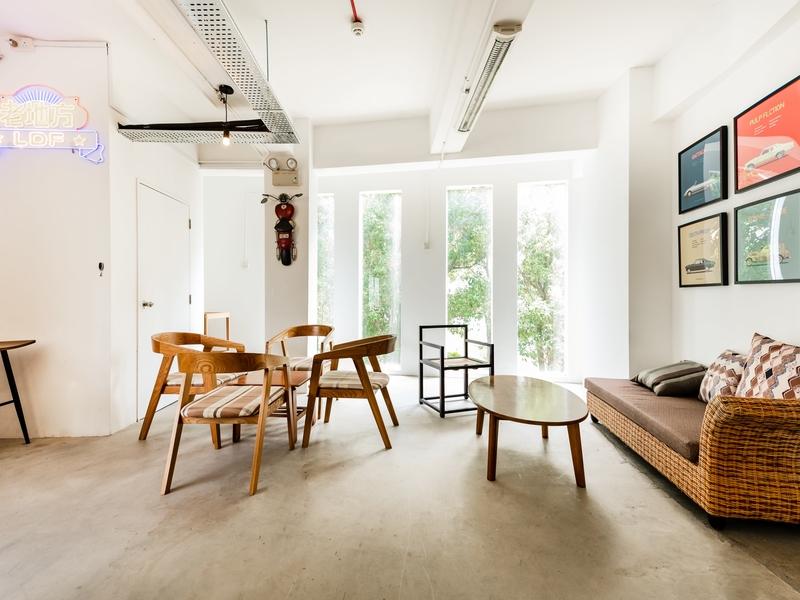 cosy room with big windows