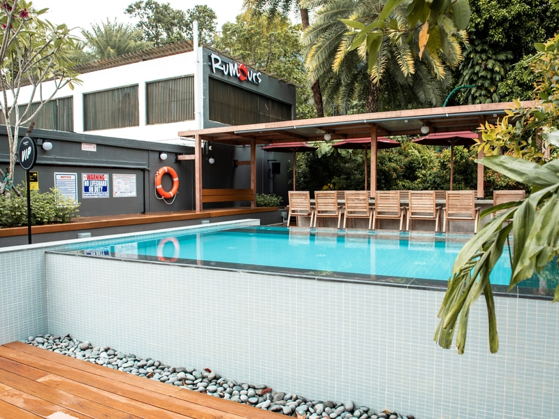year-end party venue in singapore with pool and garden