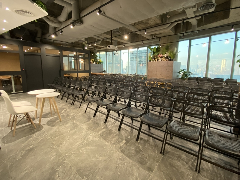 multifunctional event space with theatre style seating