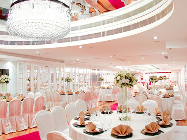 function room with moden french decor for wedding party event