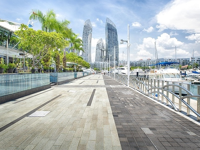 wedding venue in singapore with sea view and large outdoor area