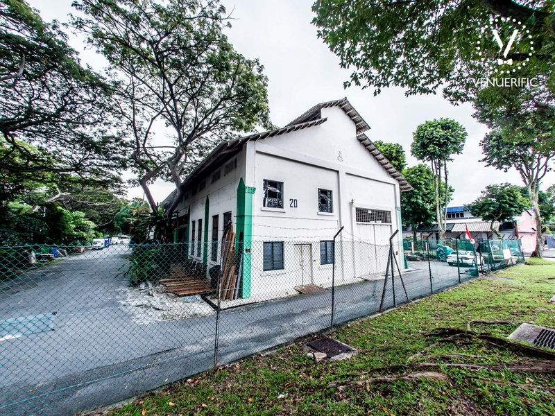 singapore white warehouse with large outdoor area