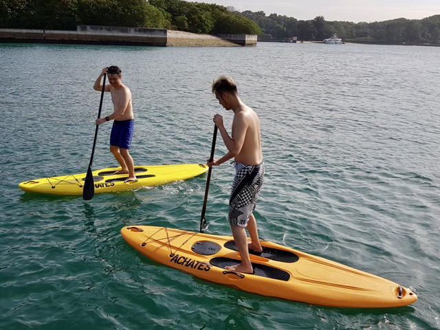 people do kayaking in singapore outdoor party space
