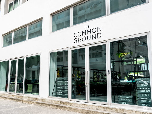 product launch venue in singapore with glass door and large outdoor area
