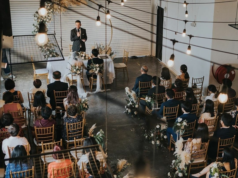people attenting intimate wedding venue in singapore