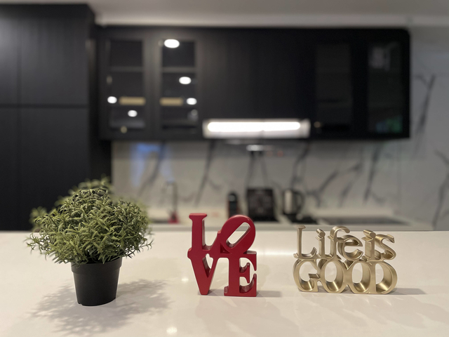 singapore event venue with mini pantry and plant decorations