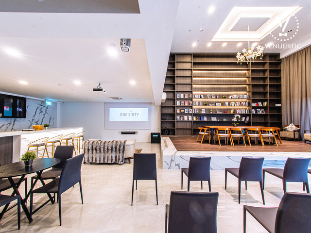 white interior event venue in singapore without partition