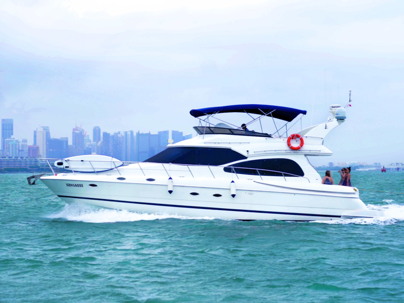 bridal shower yacht saliling in singapore sea