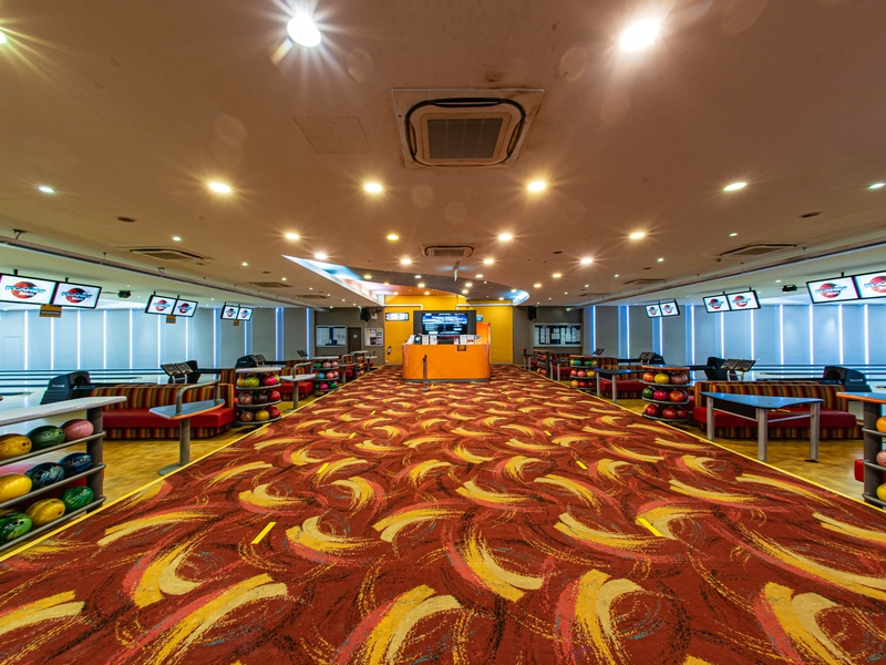 singapore corporate anniversary event space with bowling area