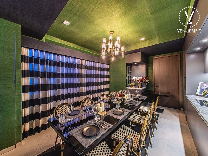 private dining room with elegant interiors