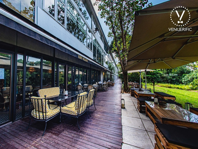 outdoor restaurant area with canopy