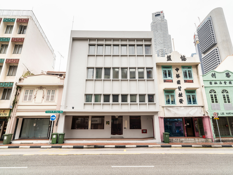 white theme birthday venue in singapore with three floors and near main road