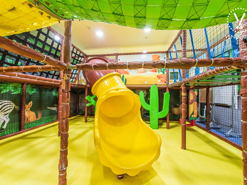 party space in singapore with indoor slide and playground