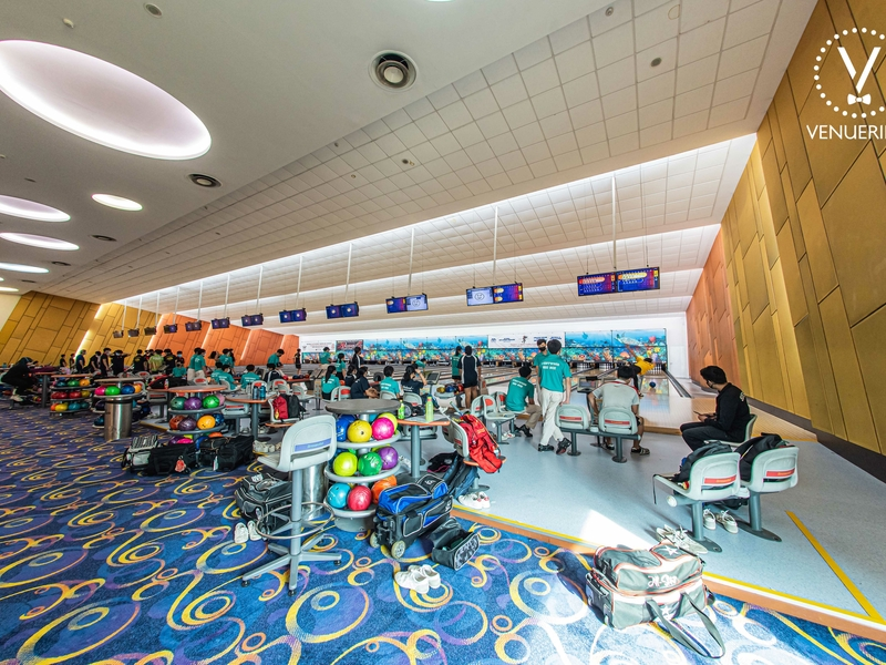 large event space in singapore with bowling area