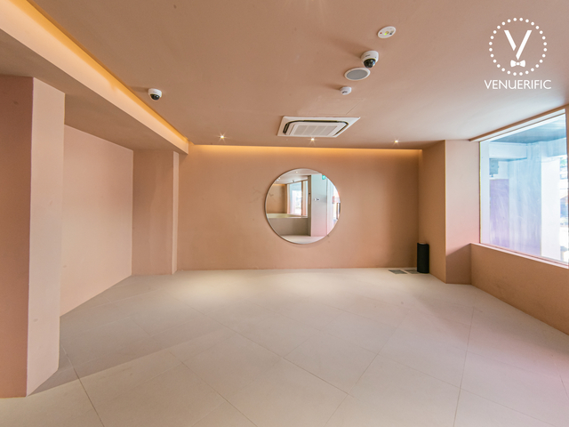 singapore new party space with peach interior and large window