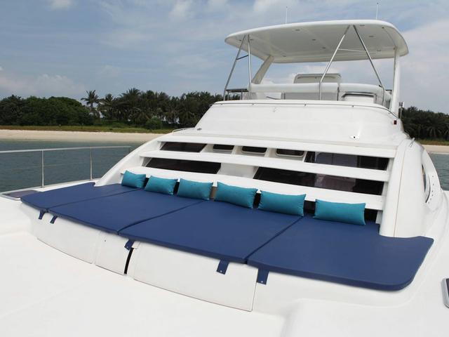 singapore team bonding event yacht with sundeck area
