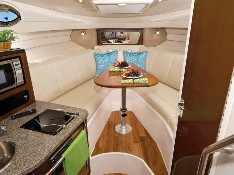 small yacht for weekend getaway in singapore with pantry
