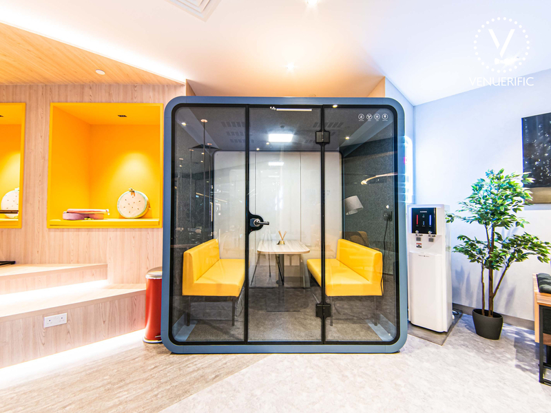 small meeting room inside the cubical box