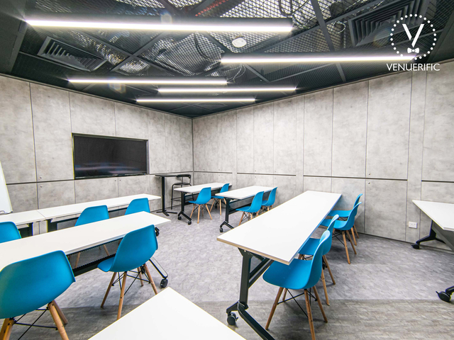 industrial training room with classroom setup