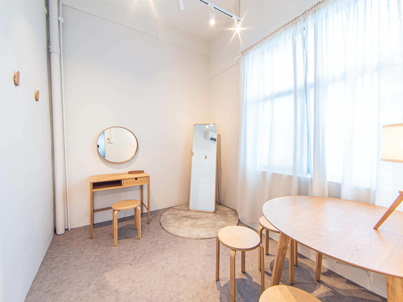 small waiting room with natural light from the window