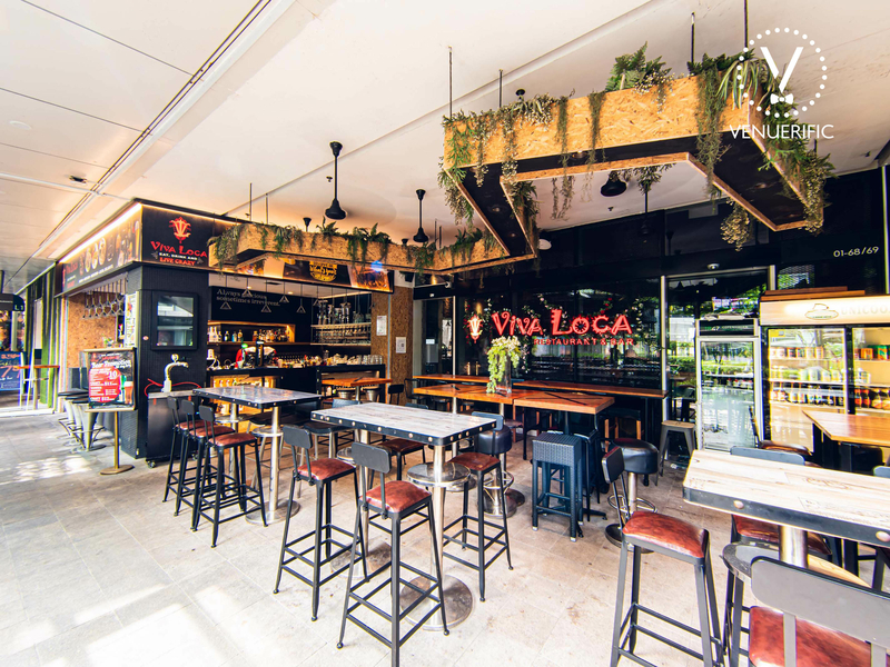 singapore party bar with high table and chairs