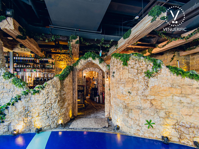 prewedding shoot spot in singapore with rock interior