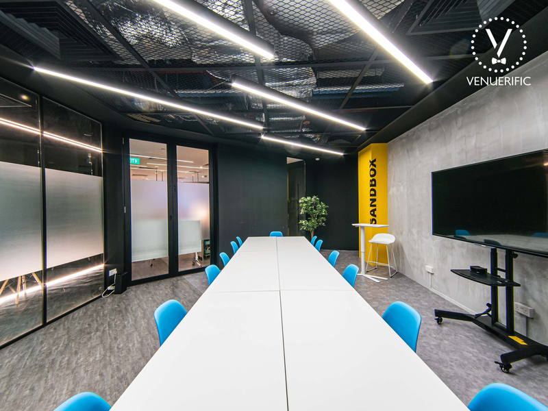 private meeting room setup equipped with tv screen