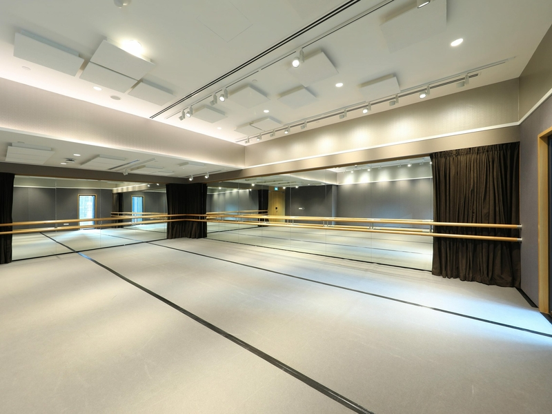 studio rental with ceiling to floor window