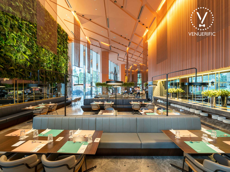 zchic and modern restaurant with buffet table
