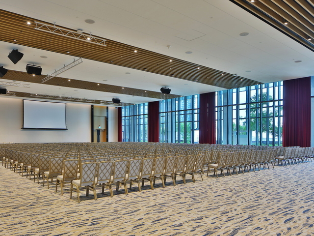 multifunctional event space with theatre seating style