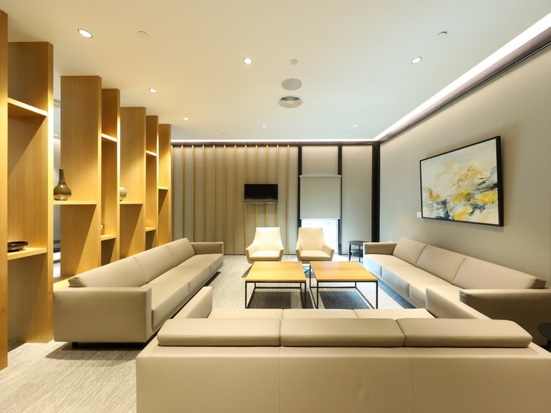 living room area with sofas and table