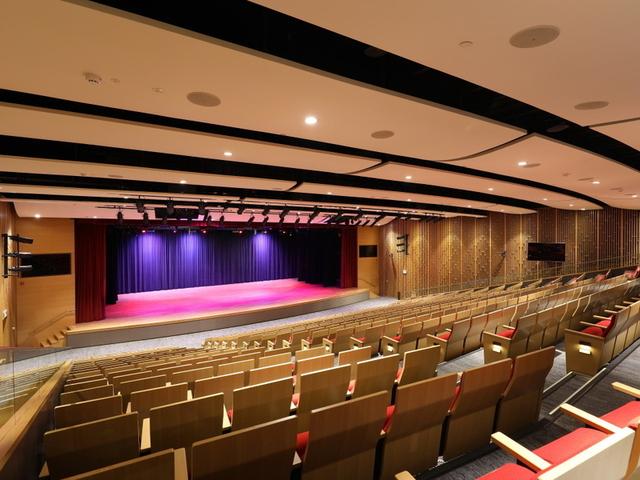 grand auditorium perfect for performance
