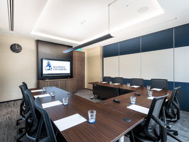 small meeting room with u shape setup