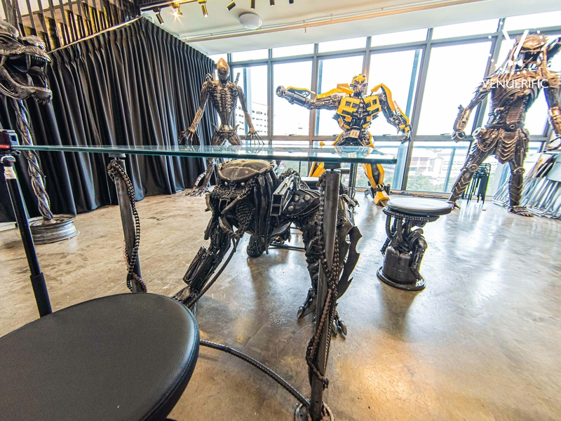 unique table made from giant metal sculpture