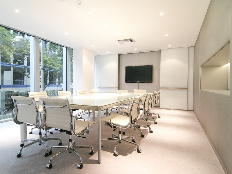conference room with floor to ceiling window