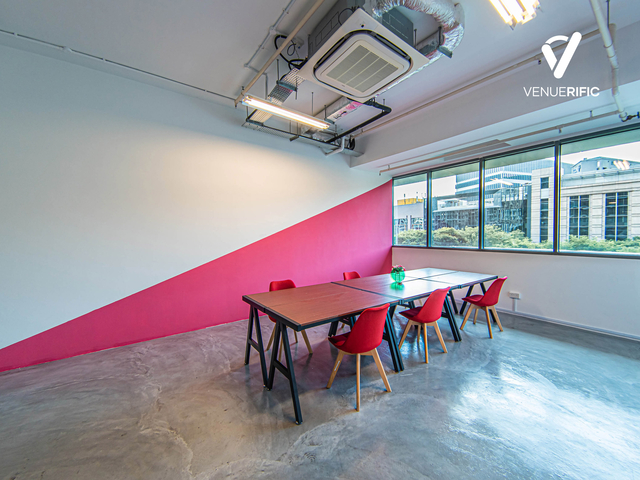 private meeting room with industrial vibe