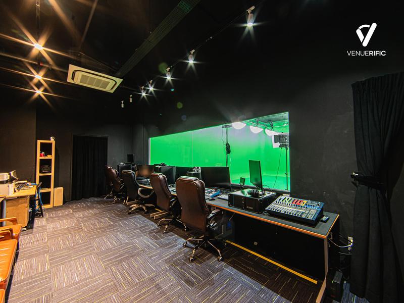 production room of green screen studio