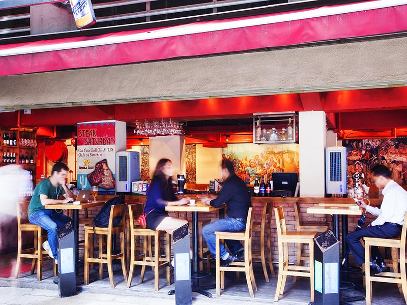 customers enjoying drinks in tequilla jacks bar