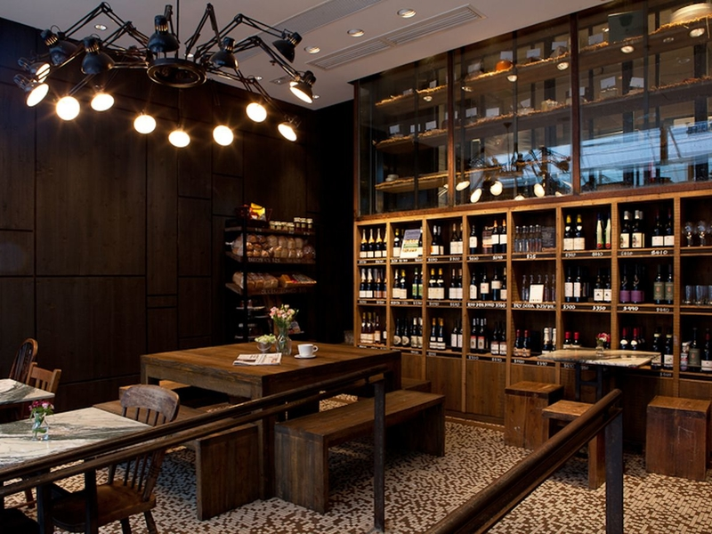 european style venue with wines boutique inside