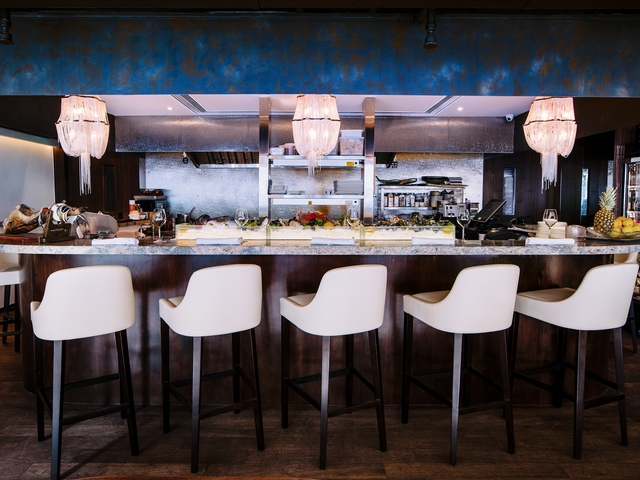 bar seating area perfect for networking event with friends
