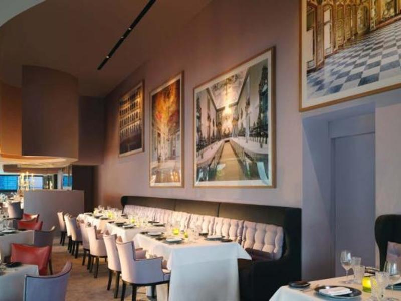 interior of sevva restaurant party venue