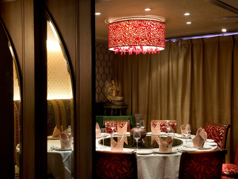 private room with round table perfect for business dinner