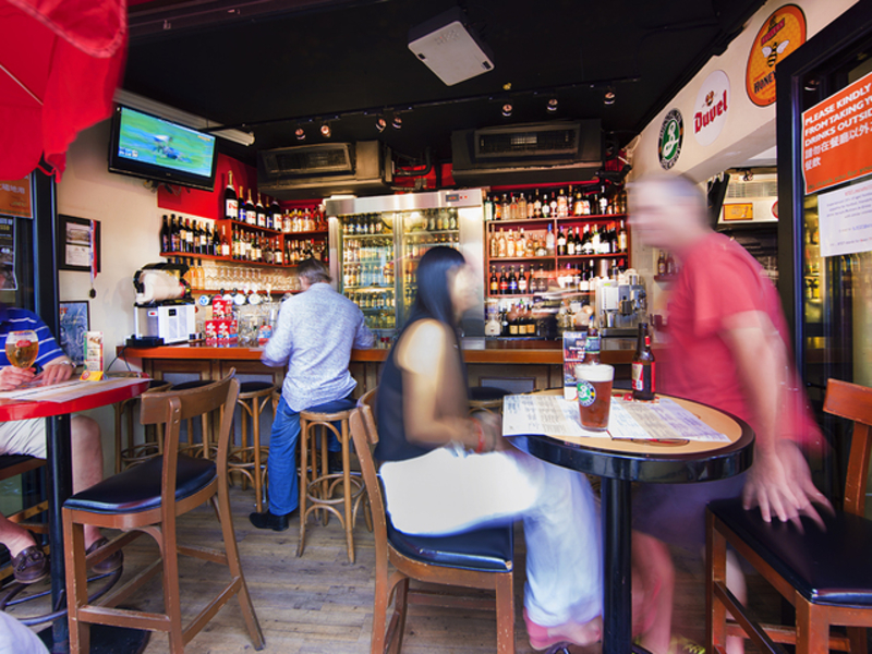 main dining area of happy valley bar and grill
