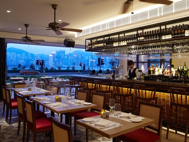 hong kong city view from spasso italian bar and restaurant