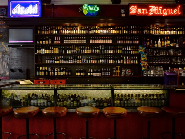 cool bar with many drink option